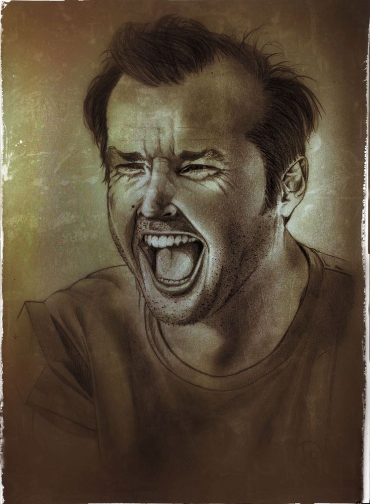 Jack Nicholson in One flew over the cokoo's nest...✏️