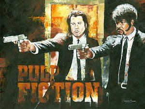 Pulp Fiction Painting - The Pulp Fiction by Christiaan Bekker