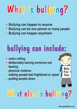 School Projects Brochures Examples On Anti Bullying