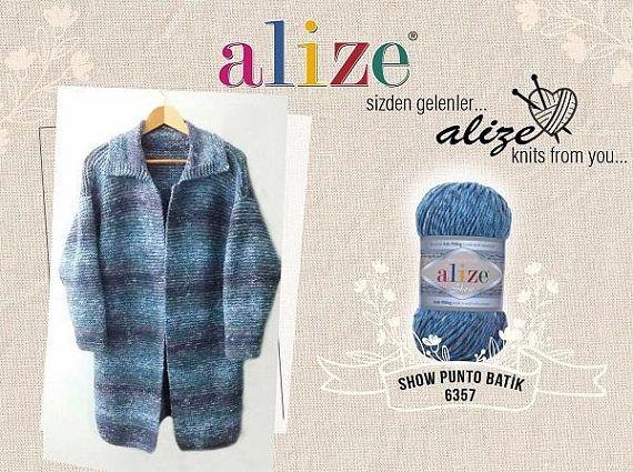 b5306cf86 Yarn Alize Show Punto batik yarn 100% acrylic yarn anti-pilling ...