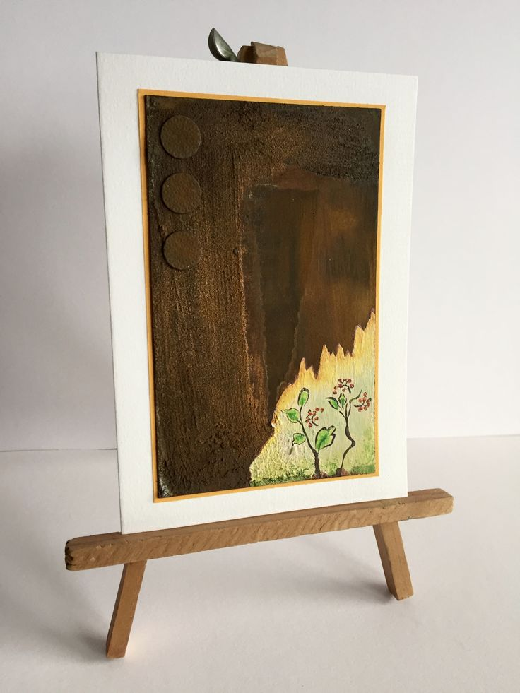 Mixed media card with rust by kidmandesign