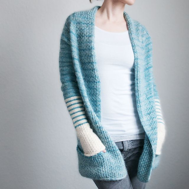 BeauB Cardigan by La Maison Rililie: FO by Trin-Annelie on ravelry. #knitting #pattern #knitindie