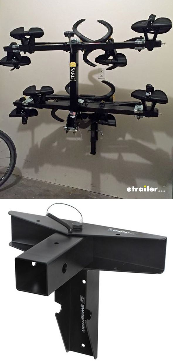 "Keep your garage free of clutter by storing your bike rack on this wall-mounted storage rack. It holds 1 hitch-mounted bike rack with a 2"" shank."