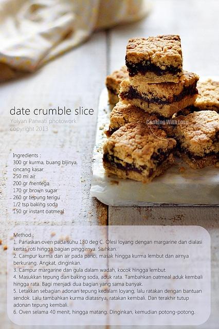 Date Crumble Slice