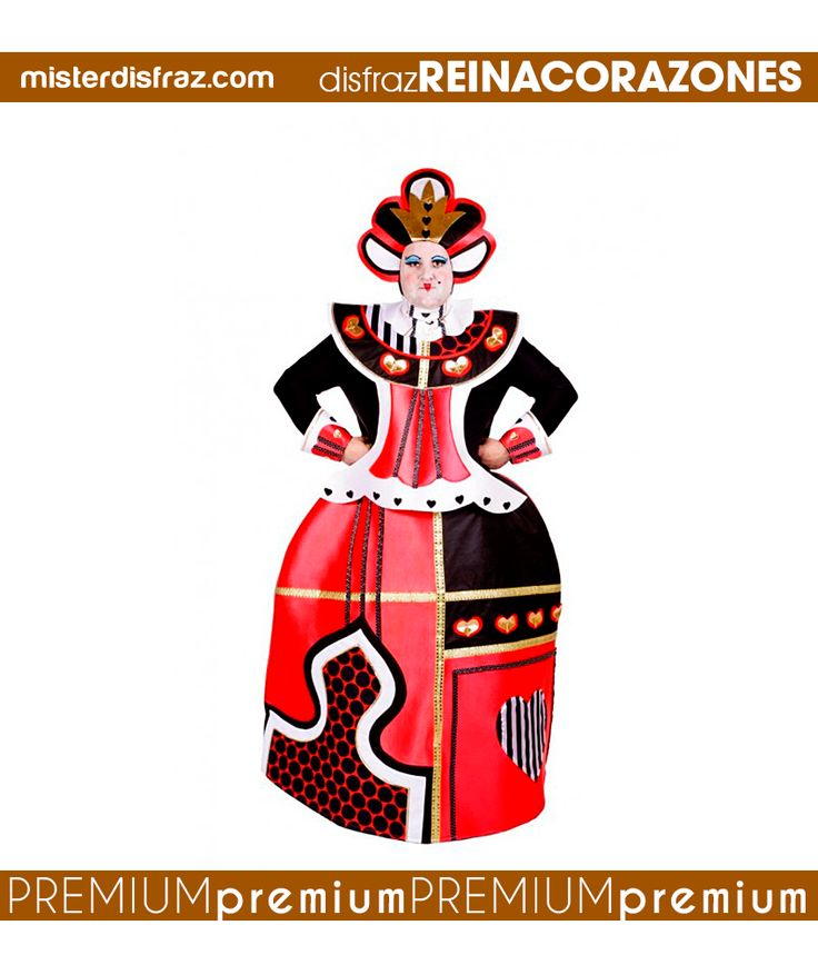 Disfraz de Reina de Corazones Mágica para Hombres. En cuanto te pongas este fabuloso disfraz te convertirás en la Reina de Corazones de Alicia en el País de las maravillas.  #disfraz #disfraces #disfracesoriginales #disfracesdivertidos #disfracescachondos #disfracesgraciosos #disfrazhombre #disfrazreinadecorazones #reinadecorazones #aliciaenelpaisdelasmaravillas #carnaval #premium #disfracespremium #premiumoriginales #misterdisfraz