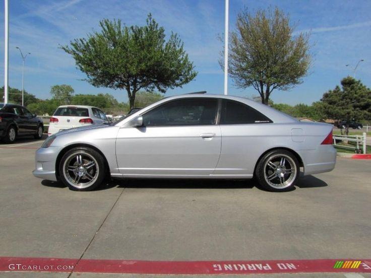 2001 honda civic coupe metallic rims | 2003 Honda Civic EX Coupe Custom Wheels Photo #47446885