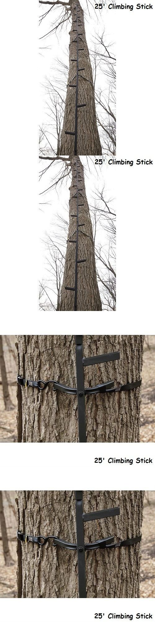 Blind and Tree Stand Accessories 177912: Tree Stand 25 Climbing Sticks Hunting Ladder Deer Hog Bow Rifle Supplies Hunt BUY IT NOW ONLY: $64.97
