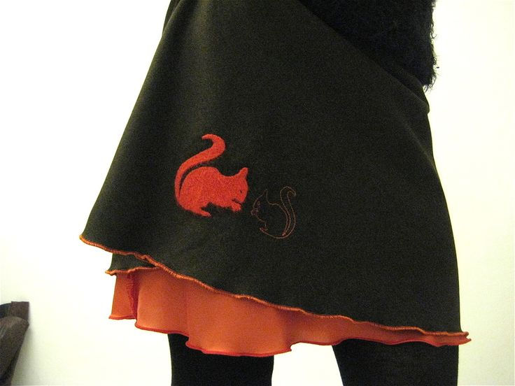 Midiröcke - ♥ Eichhörnchen ♥ Winterrock - ein Designerstück von Ida-Red bei DaWanda