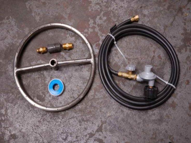 View source image Fire pit kit, Diy gas fire pit, Diy