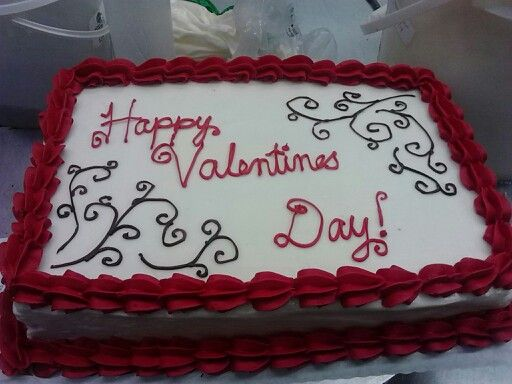 Sheet Cake Designs For 18th Birthday : Valentine s Day Sheet Cake -JRHG My Culinary Creations ...