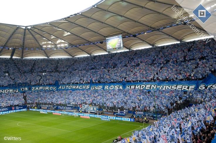 """Hamburger SV 125. Anniversary Choreo  """"Ob Titel, Triumphe und Legenden, ob Zafirov, Autowachs und rosa Hemden – unsere Geschichte ist einmalig und wird niemals enden! 125 Jahre Hamburger Sport-Verein e. V."""""""