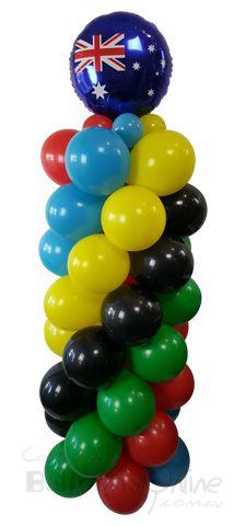 Australian themed balloon column - RIO Olympics