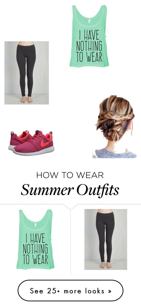 """Gone for a run"" by honeycuttrebekah on Polyvore featuring moda e NIKE"