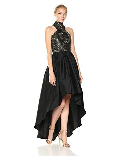 261dd30b5c New Vera Wang Women s Metallic Embroidered Mock Neck High Low Ballgown. womens  fashion clothing   148.69 - 194.00  from top store offerdressforyou