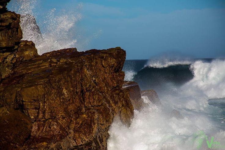 Stürmische See am Kap der guten Hoffnung, Kapstadt, Südafrika