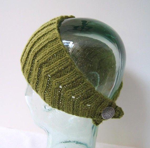 Wol hoofd-Wrap appelgroen - calorimetrie hoofd-wrap hoofdband, OORWARMER