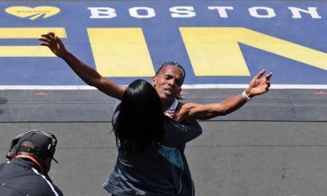 Keflezighi and Jeptoo win Boston Marathon titles a year after bombings  • San Diego Olympian takes men's title • Kenyan repeats 2013 wome...