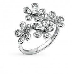 Кольцо, вставка:  фианит; Серебро 925 пробы. 32012