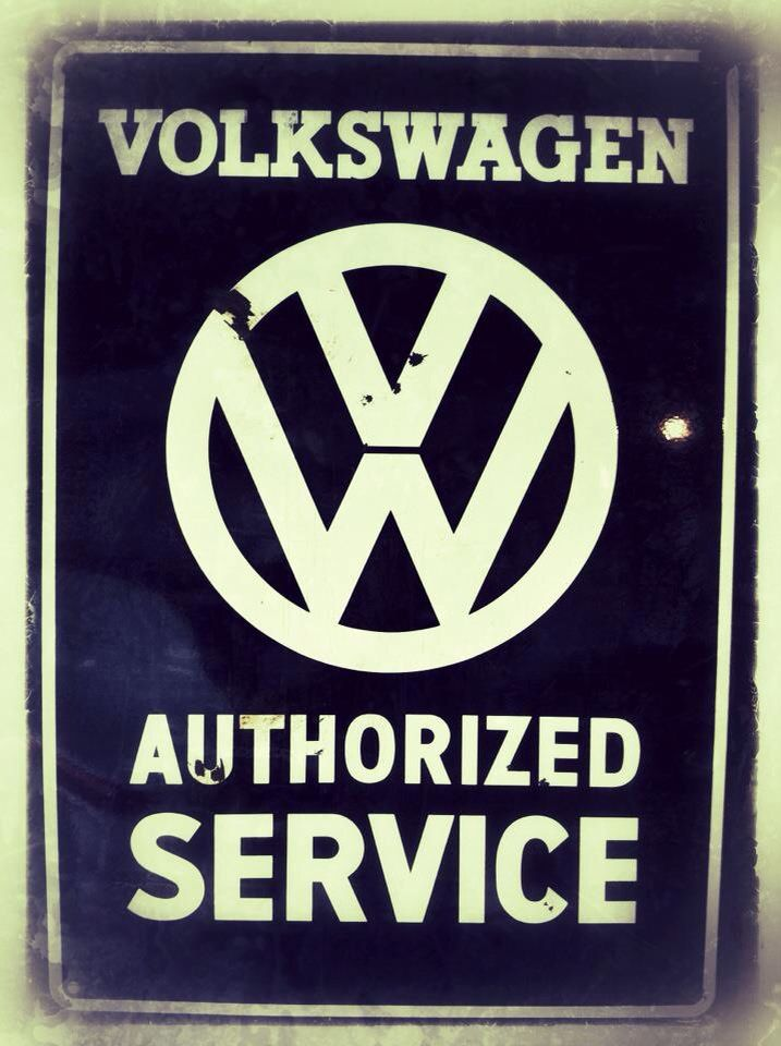 vintage sign volkswagen authorized service dub stuff pinterest volkswagen signs