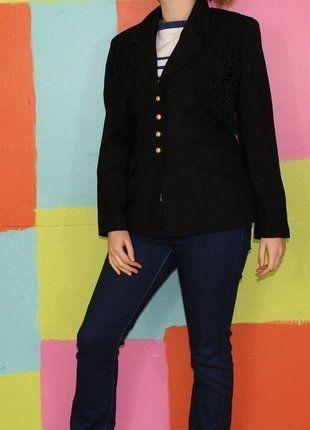 À vendre sur #vintedfrance ! http://www.vinted.fr/mode-femmes/blazers/30964815-veste-blazers-dentelle-style-andalou-t238-40-surabaya-demi-saison-vintageretro