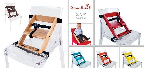 Le #rehausseur Welcome Family s'adapte à n'importe quelle type de chaise ! Il est très pratique ! #welcomefamily