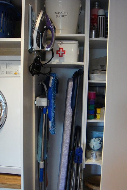 laundry area and store cupboard by hausfrau in melbourne, via flickr