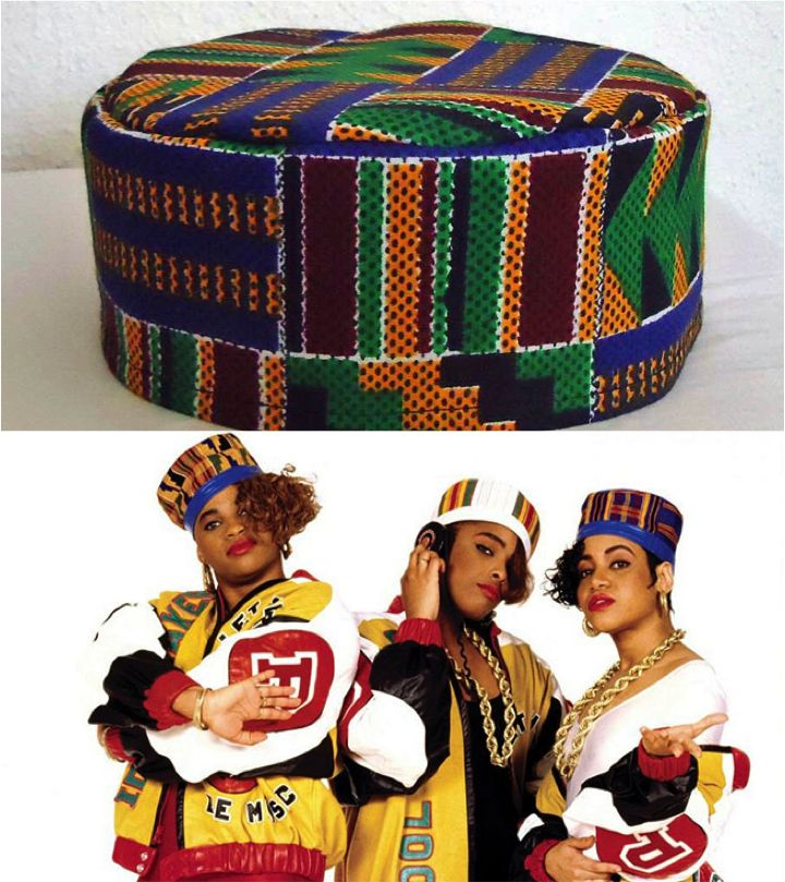 3/15/16 - This traditional African hat is called a Kofi and was worn by men and some women in parts of Africa. In the 90s when traditional African wear was seen in street wear and hip-hop, Salt n Pepa wore them on the cover of their album. This influenced fans and tons of young African American teens.