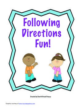 following directions game tpt following directions games following directions preschool. Black Bedroom Furniture Sets. Home Design Ideas