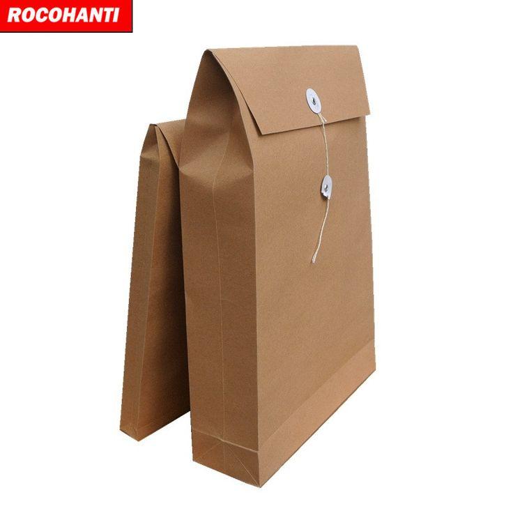 Cheap Two Double Pocket Manila Paper File Folder A4 Handmade Kraft Paper Folder B4 Blank Document Bag #Affiliate