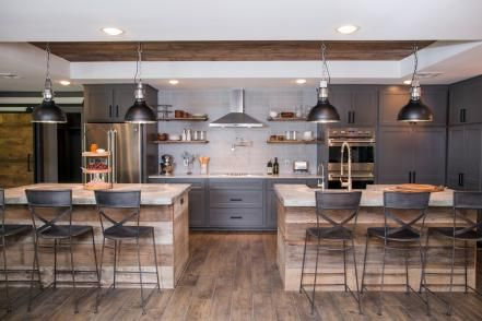 With walls removed and a top-to-bottom renovation, the new kitchen is barely recognizable as the same space.