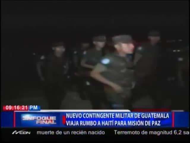 Envían Nuevo Contingente De Policía Militar De Guatemala Para Unirse A La Minustah En Haití #Video