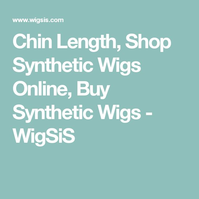 Chin Length, Shop Synthetic Wigs Online, Buy Synthetic Wigs - WigSiS