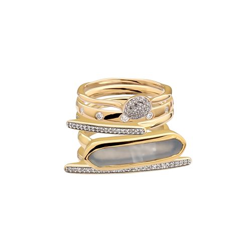 Dream ring-stack Personalised Monica Vinader ring stack #stackandshare