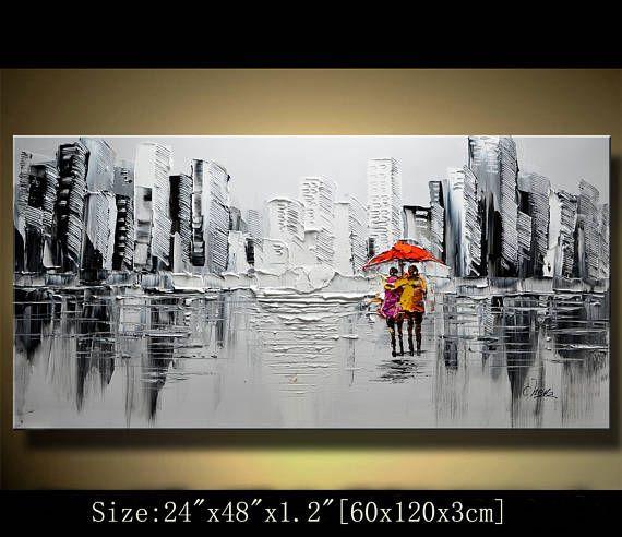 Pared pintura expresionismo abstracta Textured Impasto