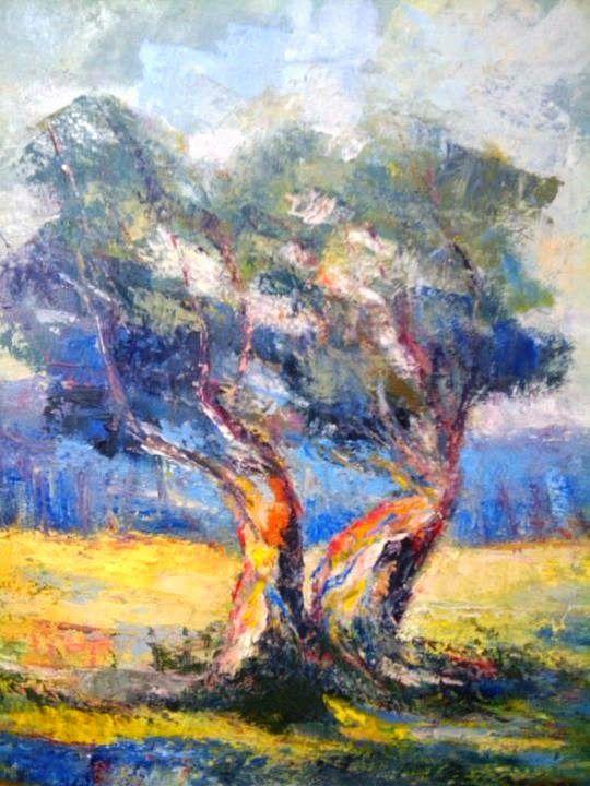 P.JANNACOS   ART.  pittore contemporaneo: ulivo del mediterraneo  ..olio su tela