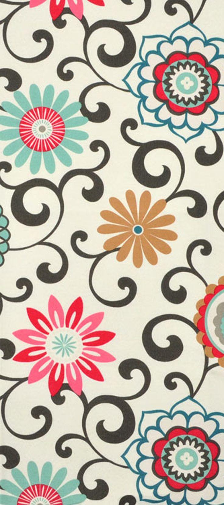 Discount outdoor fabric by the yard - Waverly Pom Pom Play Sun N Shade Peachtini Fabric