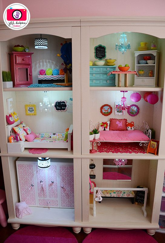 Happy Saturday everyone! Tonight I will be sharing the 4th room in our American Girl dollhouse...