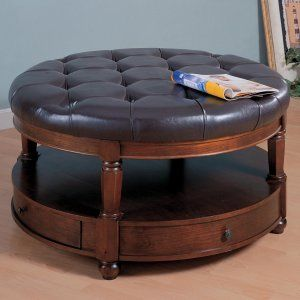 18 best round leather ottoman images on pinterest   round leather