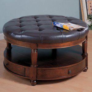 Coaster Tai Leather Coffee Table Storage Ottoman Coffee Table Ottomans at Ottomans - Stylehive