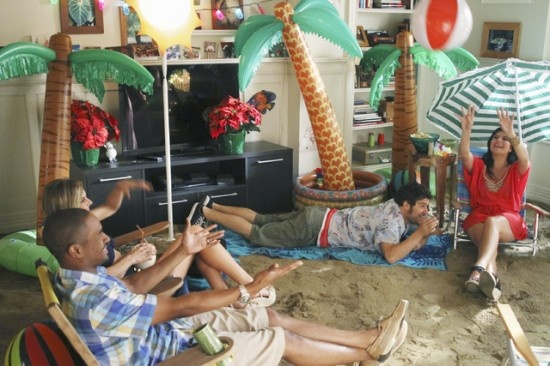 Wintertime Beach Party...or Indoor beach party.  Something I've always wanted to do.