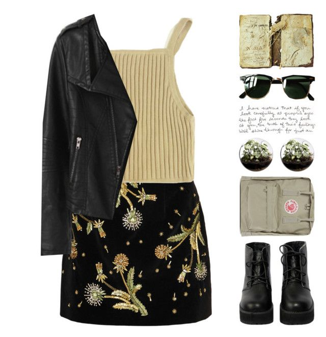 """""""Hot Botanist"""" by chelseapetrillo ❤ liked on Polyvore featuring Topshop Unique, Home Essentials, Fjällräven, The WhitePepper, Ray-Ban, women's clothing, women's fashion, women, female and woman"""