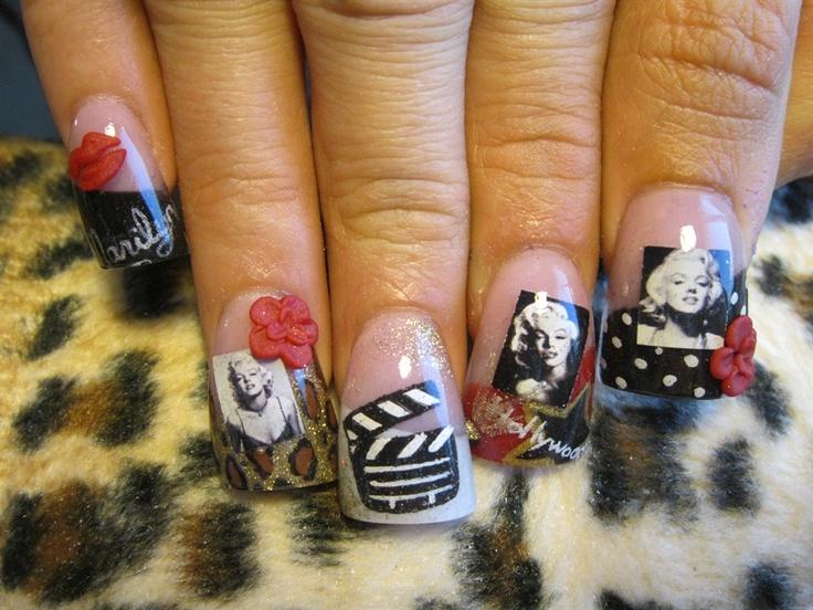 Marilyn Monroe 4 - Nail Art Gallery | Nails | Pinterest | Nail arts ...