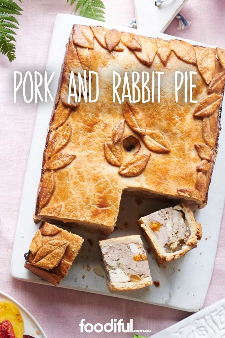 This is a delicious English pie packed with sweet and savoury flavours. It's a great dish for a great dinner party or buffet. It serves 8 and takes 7 hrs and 30 mins in total.