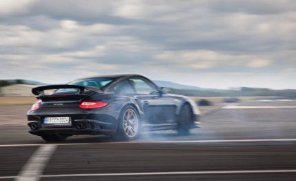 """2011 Porsche 911 GT2 RS Road Test – Review – Car and Driver Porsche's 911 GT2 RS is a brute, a lightweight, twin-turbocharged, 620-hp bout of madness that stemmed from Stuttgart's quest to see how high up the sports-car ladder the 911 could punch. Overpowered almost to a fault and with enough grip to peel lane markings off the pavement, it is the most serious roadgoing Porsche ever.  Unlike the previous 996-era GT2, this 997 variant was deemed intense enough to skip straight to the """"RS""""…"""