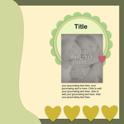 Album template easy to build with My Memories Suite Software.