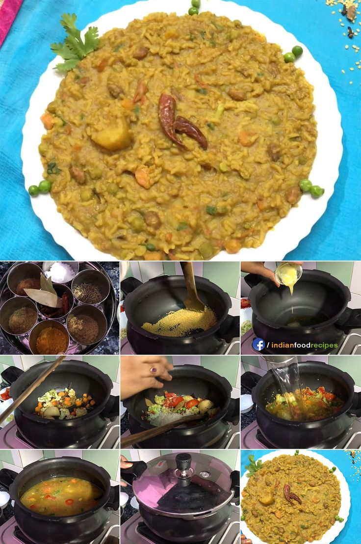 Moong Dal Vegetable Masala Khichdi in 15 minutes recipe step by step pictures