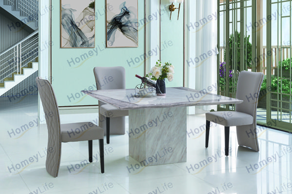 For Casual Breakfast Meals Or A Full Dining Experience This Cost Efficient Dining Set Is Definitely A Recommend Dining Table Marble Marble Dining Dining Table