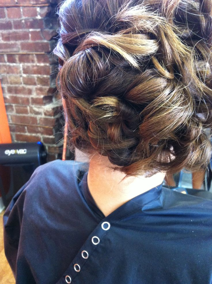 1000 Images About Barrel Curl Updo On Pinterest