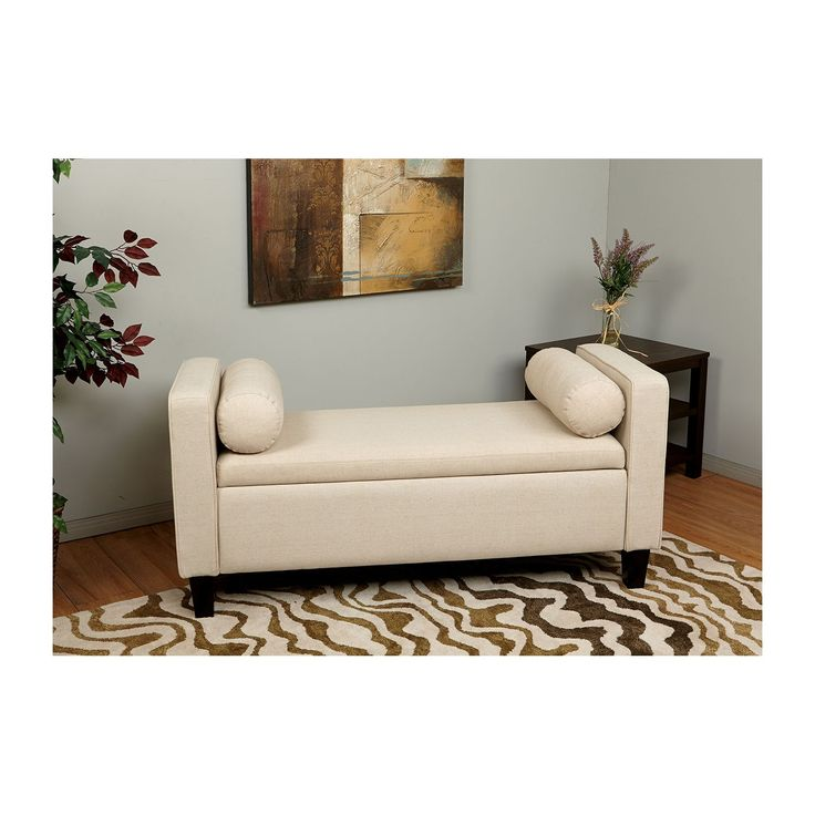 Bassett Cordoba Storage Bench Cream Oversized Chair