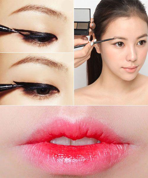 Korean makeup, Makeup and Gradient lips on Pinterest